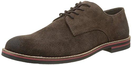 Kickers Eldan, Zapatos con Cordones para Hombre Marrón (Marron Foncé)