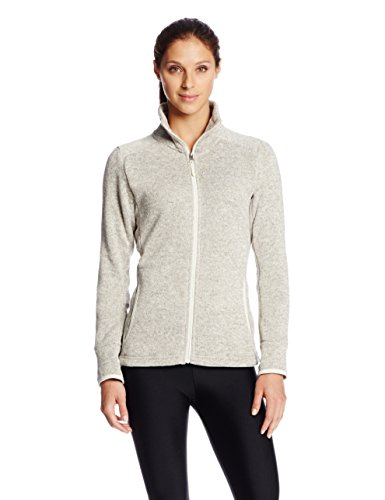 Charles River Apparel Women's Heathered Fleece Jacket, Oatmeal Heather, Small