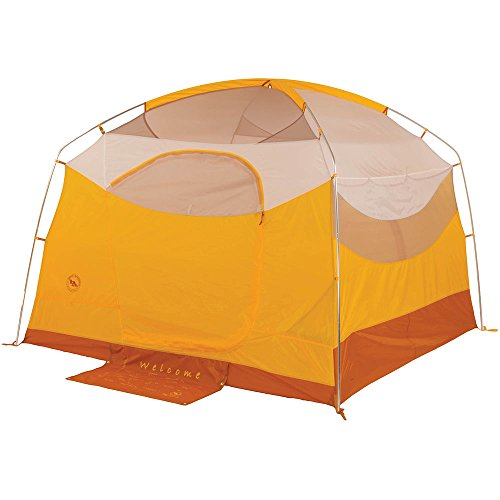 Big Agnes Big House Deluxe Camping Tent, Gold/White color, 4 Person For Sale