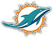 "Miami Dolphins NFL Football Car Bumper Sticker Decal 5"""