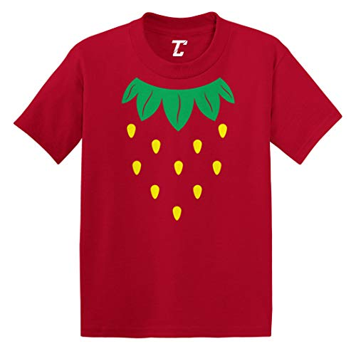 (Stawberry Costume - Fruit Cute Infant/Toddler Cotton Jersey T-Shirt (Red,)