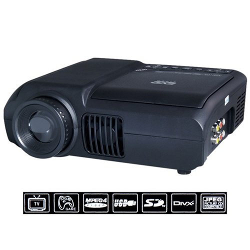 DVD Projector with DVD Player Built In - DVD Player Projector Combo, LED, 800x600, 30 Lumens, 100:1 Contrast (Dvd Generic Player)