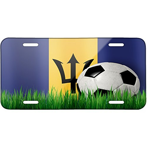 Soccer Team Flag Barbados Metal License Plate 6X12 for sale  Delivered anywhere in USA