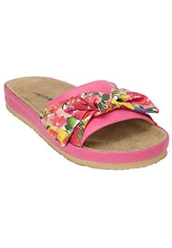 Comfortview Womens Wide Stassi Sandals Carnation Watercolor D0VCGV65