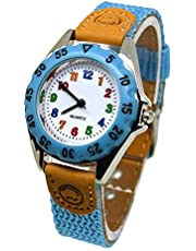 Loosnow Cute Boys Girls Quartz Watch Kids Children's Fabric Strap Student Time Clock Wristwatch Gifts