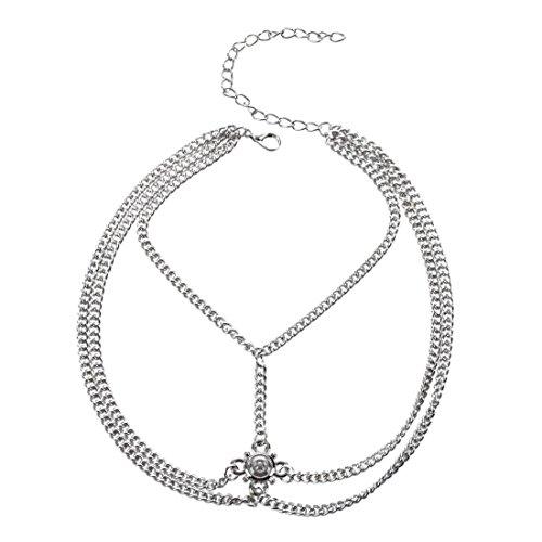 Armlet Bracelet - TOOGOO(R)Armband Retro Bracelet Drop Arm Harness Slave Chain Upper Cuff Armlet Bracelet£¨color£ºsilver£