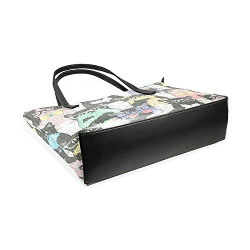 I Borsa Medio Le Con Modello Tracolla Pelle Pu Del Borse Bag Muticolour Coosun Per In Vetro Tote Gatti Di Donne E gfw44