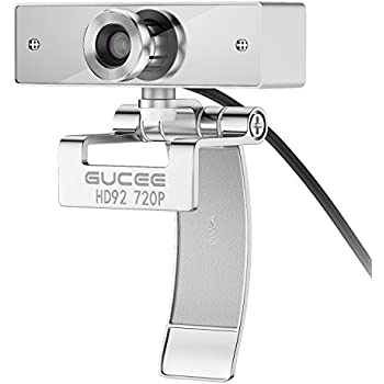Webcam 720P HD, GUCEE HD92 Skype Web Camera Wide Angle with Microphone USB Plug and Play Web Cam, Widescreen Video Callling Recording for PC Computer Laptop for Mac, Windows XP / 7 / 8 / 10