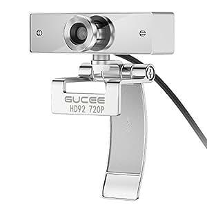 Webcam 720P, GUCEE HD92 Cámara Web de Alta Definición con