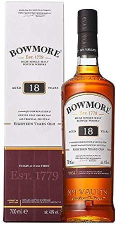 Bowmore 18 años es uno de los whisky de malta más perfectamente equilibrado entre los de su clase,Na