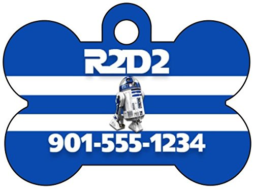 Disney Star Wars R2D2 Personalized Dog Tag Pet Id Tag w/ Your Pet's Name and Number -