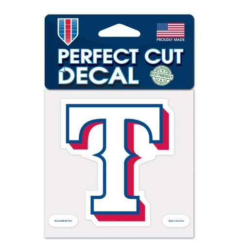 WinCraft MLB Texas Rangers Perfect Cut Color Decal, 4