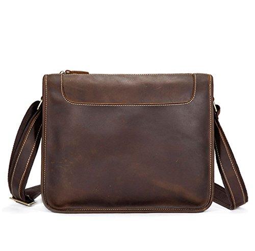 Sucastle Small Leather Man Bag, Backpack Genuine Leather Handbags, Shoulder And Chest, Shoulder Bags, 32.5x9x25cm Resistant Bag, # 1