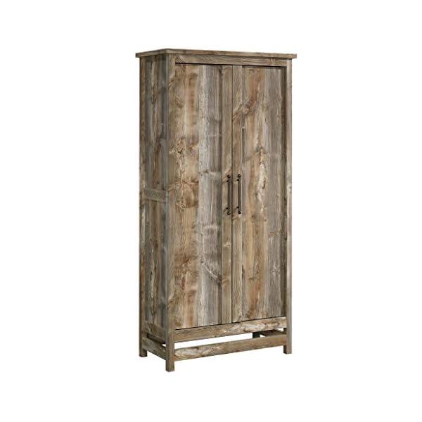 "Sauder Granite Trace Storage Cabinet, L: 35.2"" x W: 16.26"" x H: 71.97"", Rustic Cedar"