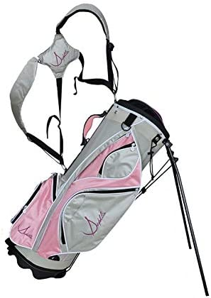 Sephlin – Womens Golf Bag Lite Pink Silver Gray White
