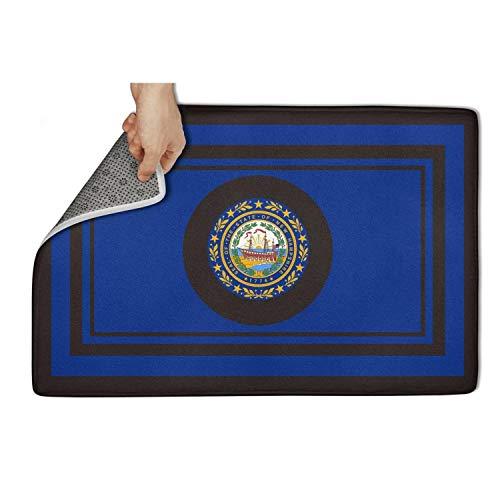 (TONGZIRT Outside Doormat New Hampshire Monogram O Pattern Welcome Rugs Beautiful Doormats)