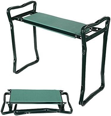 Lucky Tree Folding Garden Kneeler and Seat Garden Bench Sturdy Garden Stools with Soft Gardener Kneeling Pad Cushion