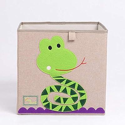 Caja De Almacenamiento Cuadrado De Dibujos Animados De Animales Bordado Plegable Caja De Almacenamiento Se Puede Lavar Armario De Tela De Oxford Cesta De Almacenamiento Niño Organizador De Juguetes: Amazon.es: Hogar
