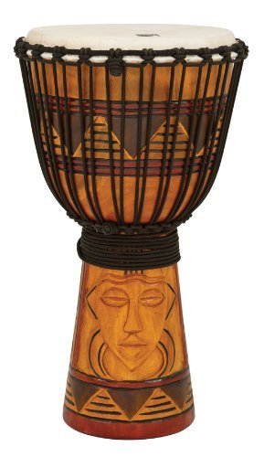 Toca TODJ-12TM Origins Series Rope Tuned Wood 12-Inch Djembe - Tribal Mask ()