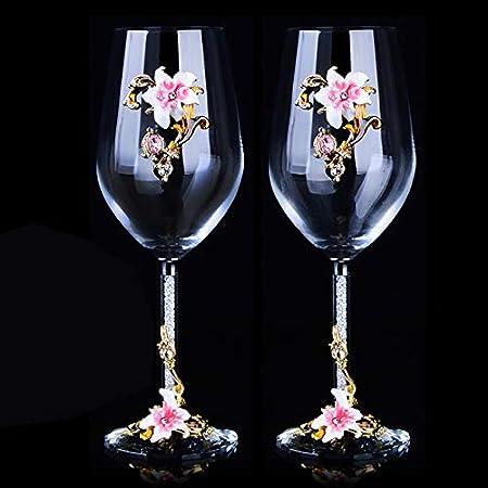 Vaso De Whisky Kits De Copas De Vino Tinto De Cristal Copa De Tuba Copa De Vino Traje De Regalo Para Recién Casados Vodka Copa Alta Whisky,Rosa,470 Ml