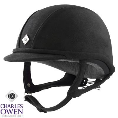 Charles Owen GR8 Equestrian Helmet Black Black 6 7/8 (Charles Owen Equestrian)