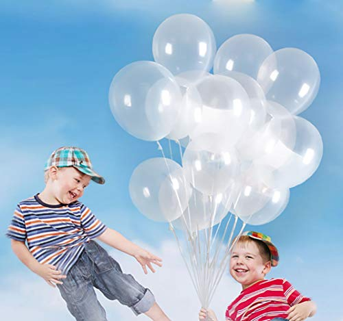 KALOR 100 Pcs Pearl Latex Balloon 12 Inch for Wedding Birthday Party Festival Supplies Clear]()
