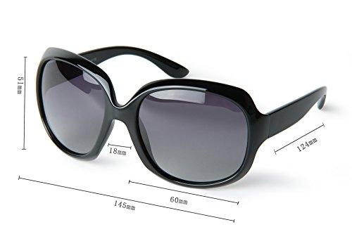 Corciova® Classia Simple Oversized Women's Polarized Sunglasses UV400 Black
