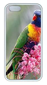 Apple iPhone 5S Case,iPhone 5S Cases - Bird 93 TPU Custom iPhone 5S Case Cover for iPhone 5S - White