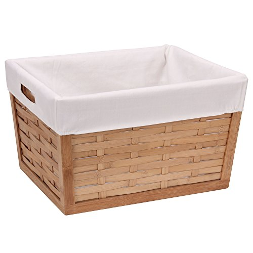 Household Essentials Bamboo Basket, Basket Weave