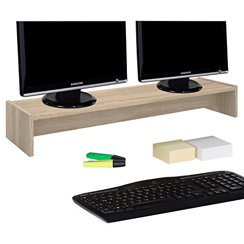 IDIMEX Support d'écran d'ordinateur Screen, réhausseur pour Deux moniteurs ou Un Grand écran Dimensions 100 x 15 x 27 cm…