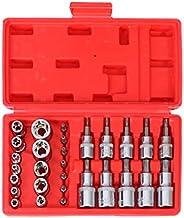 Wakauto 30 peças de manga de lote de pressão de aço vanádio, ferramenta de reparo de veículo