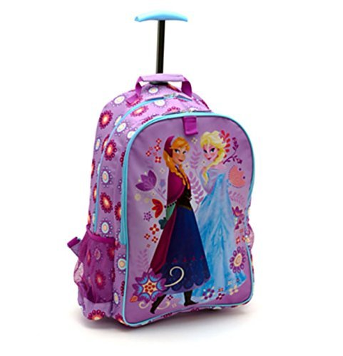 Disney Store Frozen Elsa Anna Rolling Luggage Backpack