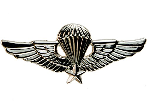 Jump Wings Hat (Vietnam Jump Wings Silver Finish Hat Pin Badge 2 3/8 inch)