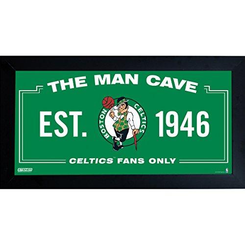 - NBA Boston Celtics Man Cave Sign 6 x 12 Framed Photo
