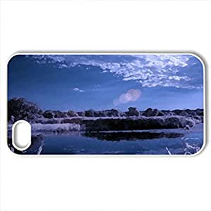 Seversky Donets - Case Cover for iPhone 4 and 4s (Rivers Series, Watercolor style, White)