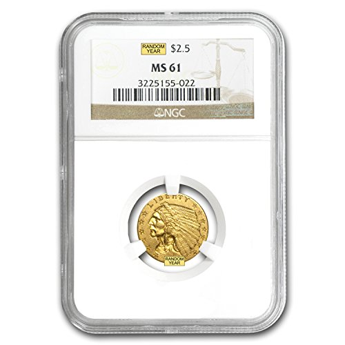 1908 – 1929 $2.50 Indian Gold Quarter Eagle MS-61 NGC/PCGS $2.50 MS-61 PCGS