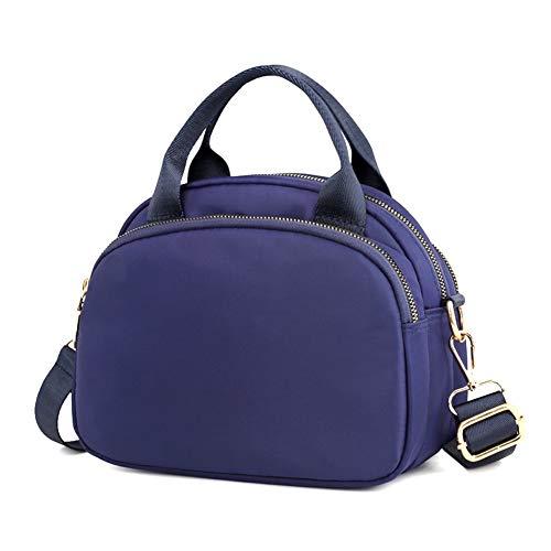 Blue Colores Miss Con 4 Bandolera Jj De Nylon Opcionales Varios Bolsillos Para Viaje Ligero Mujer Bolso Impermeable TqTar64x