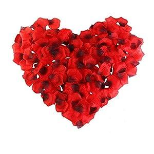 LYTIVAGEN 3000 Pcs Artificial Rose Petals Dark Red Silk Rose Flower Petals for Wedding Party Valentine's Day Home Decoration 12