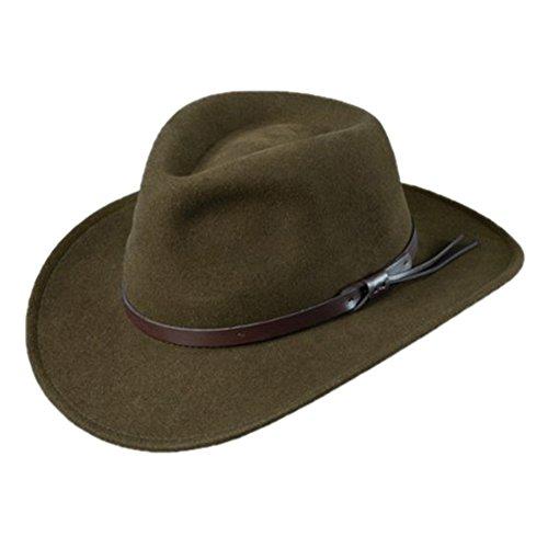 Indiana Jones Men's Outback Hat, Olive, L