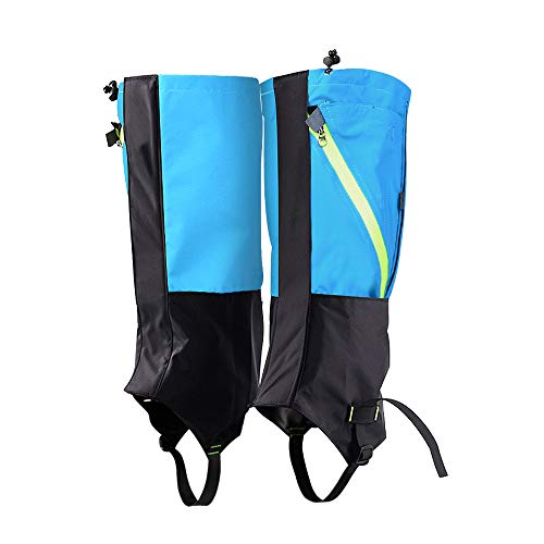 (Wolfyok Hiking Leg Gaiters Sandproof Shoes Cover Protection Waterproof Snow Boot Gaiters for Outdoor Walking Skiing Camping Hunting Climbing Mountain Trimming Grass for Men Women Size XL)