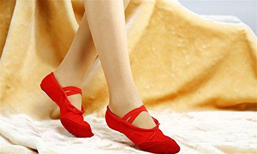 Scarpe XW 44 ballo con Scarpe adulti 24 da bambini Scarpe donna Scarpe ballo da yoga Scarpe Scarpe da da WX bambini Puppy per fondo da balletto morbide per Calzature Cat's Red per AArtqwP5x
