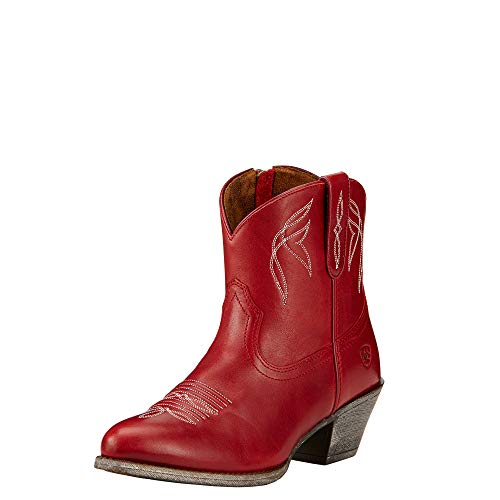 Ariat Women's Darlin Western Fashion Boot, Rosy Red, 7.5 B US (Womens Boots Leather Ariat)
