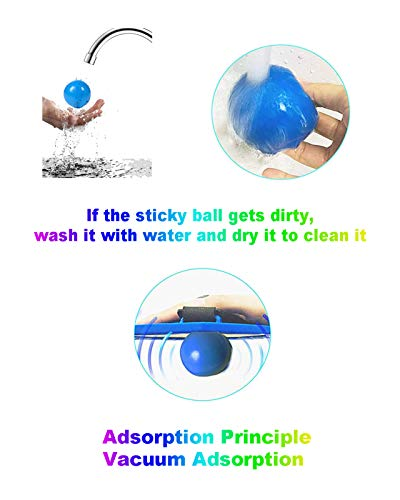 Sticky Ceiling Balls, Stress Balls for Adults and Kids, Squishy Toys for Kids,Figit Toys,Sensory Toys,Stress ,Gifts (9) (5)