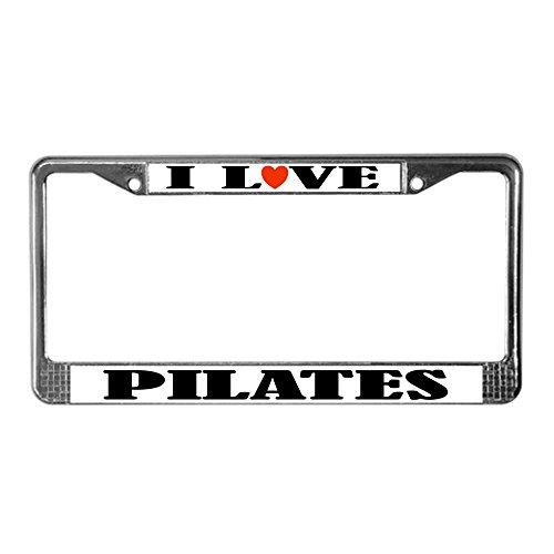pilates license plate frame - 1