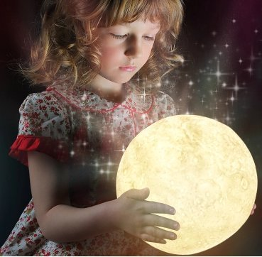 3D Printed 16 Color LED Moon Lamp with Stand. Multicolor RGB Remote & Touch Control Decorative Moon Lamp Nightlight Kids Gift with Wooden Stand. USB Charge Adjustable Brightness