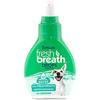 Fresh Breath by TropiClean Oral Care Drops for Dogs, 2oz, Made in USA