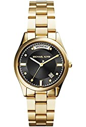 Michael Kors Colette Black Dial Gold-plated Ladies Watch MK6070