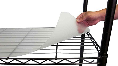 TRINITY 48'' x 18'' Wire Shelving Plastic Liners 4pk – Clear by Trinity