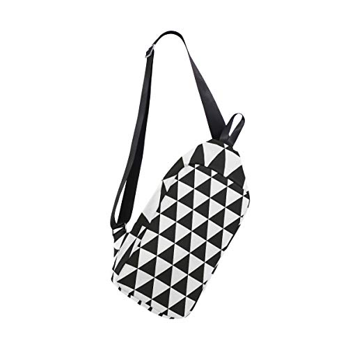 Backpack Women Chest Sling Bag For Men Shoulder One Black amp; Crossbody Chevron Bennigiry Bags White vwx6H46q