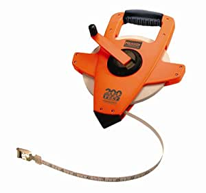 Keson NRS10200H Permaclad 200-foot Steel Long Measuring Tape Featuring 3-to-1 Rewind with Hook